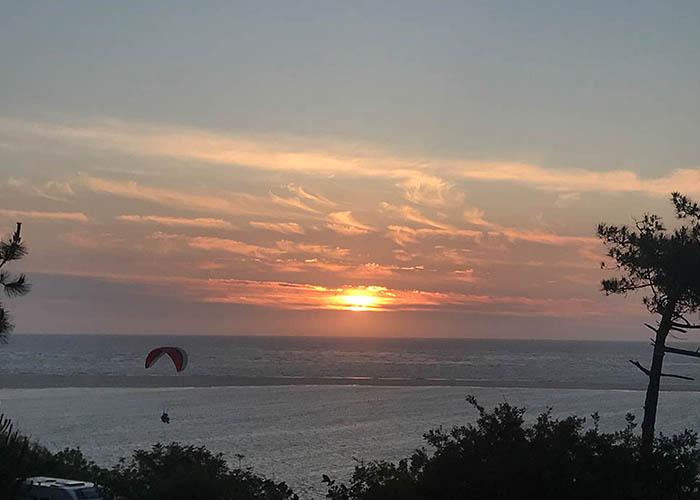 Paragliden Düne