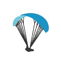 Glider blau